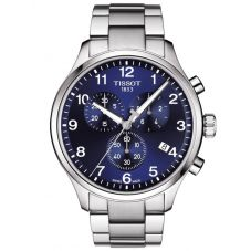 Tissot Mens T-Sport Chrono Xl Classic Blue Dial Bracelet Watch T116.617.11.047.01