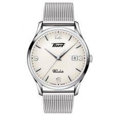 Tissot Mens Heritage Visodate Cream Dial Mesh Bracelet Watch T118.410.11.277.00