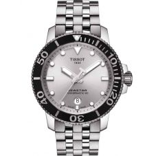 Tissot Mens T-Sport Seastar 1000 Powermatic 80 Silver Dial Bracelet Watch T120.407.11.031.00