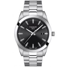 Tissot Mens Genleman Black Dial Bracelet Watch T127.410.11.051.00