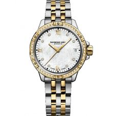 Raymond Weil Ladies Tango Two Colour Classic Diamond Bezel Bracelet Watch 5960-SPS00995