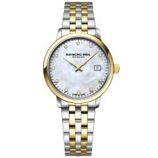 Raymond Weil Ladies Toccata Two Tone Diamond Set Mother Of Pearl Dial Bracelet Watch 5985-STP-97081