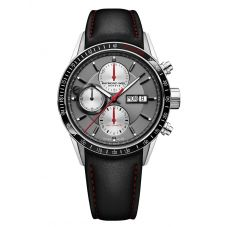 Raymond Weil Mens Freelancer Chronograph Black Leather Strap Watch 7731-SC1-65421