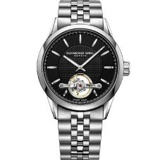 Raymond Weil Mens Freelancer Calibre RW1212 Automatic Black Dial Bracelet Watch 2780-ST-20001