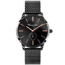 THOMAS SABO Ladies Glam Spirit Black Mesh Bracelet Watch WA0277-202-203-33 MM
