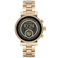 Michael Kors Ladies Access Sofie Gen 4 Gold Plated Crystal Bezel Smartwatch MKT5062