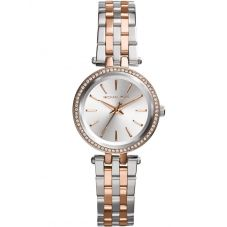 Michael Kors Ladies Petite Darci Silver Dial Two-tone MK3298
