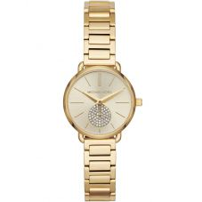 Michael Kors Mini Portia Gold Tone Bracelet Watch MK3838