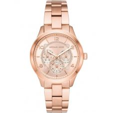 Michael Kors Runway Rose Gold Plated Chronograph Bracelet Watch MK6589