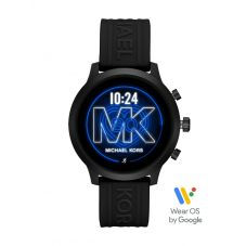 Michael Kors Ladies MKGO Black Rubber Strap Smartwatch MKT5072