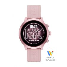 Michael Kors Ladies MKGO Pink Rubber Strap Smartwatch MKT5070