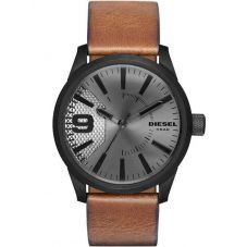 Diesel Mens Rasp Light Brown Leather Strap Watch DZ1764