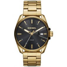 Diesel Mens MS9 Black Dial Gold Plated Bracelet Watch DZ1865
