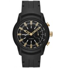 Diesel Connect Mens Armbar Hybrid Black Rubber Strap Smartwatch DZT1014