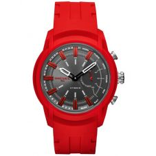 Diesel Connect Mens Armbar Hybrid Red Rubber Strap Watch DZT1016