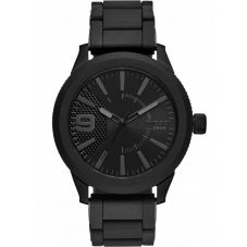 Diesel Rasp 3 Black Rubber Strap Watch DZ1873