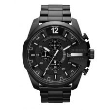 Diesel Mens Mega Chief Chronograph Dial Black Bracelet Watch DZ4283