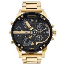 Diesel Mens Mr Daddy 2.0 Chronograph Dial Gold Plated Bracelet Watch DZ7333