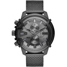 Diesel Griffed Chronogrph Gun Metal Grey Mesh Bracelet Watch DZ4536