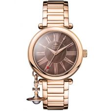 Vivienne Westwood Ladies Mother Orb Rose Gold Plated Bronze Dial Bracelet Watch VV006PBRRS