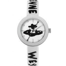 Vivienne Westwood Ladies Southbank White Leather Strap Watch VV221SLWH