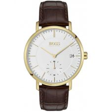 BOSS Mens Corporal Brown Leather Strap Watch 1513640