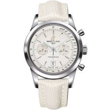 Breitling Ladies Transocean 38 Leather Strap Watch A4131012-G757 237X