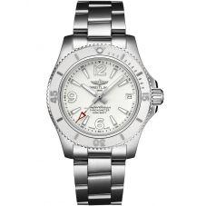 Breitling Ladies Superocean Automatic 36 Silver Bracelet Watch A17316D21A1A1