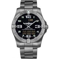 Breitling Mens Professional Aerospace Evo Titanium Bracelet Watch E7936310-BC27 152E