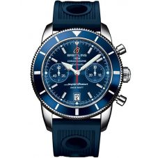Breitling Mens Superocean Heritage Chronograph 44 Rubber Strap Watch A2337016-C856 211S