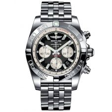 Breitling Chronomat 44 Onyx Black Steel Watch AB011012-B967 375A