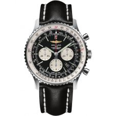 Breitling Mens Navitimer 1 B01 Chronograph 46 Leather Strap Watch AB0127211B1X1
