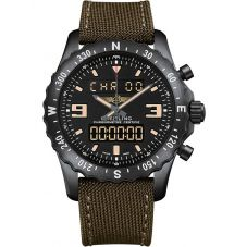 Breitling Mens Professional Chronospace Fabric Strap Watch M7836622-BD39 105W