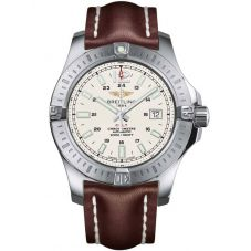 Breitling Mens Chronomat Colt Automatic Chronograph Leather Strap Watch A1738811/G791 438X