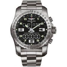 Breitling Mens Professional Cockpit B50 Titnaium Bracelet Watch EB501022-BD40 176E