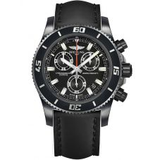 Breitling Mens Superocean Chronograph M2000 Leather Strap Watch M73310B7-BB73 231X