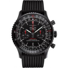 Breitling Mens Navitimer 1 B01 Black Rubber Strap Watch MB012822/BE51