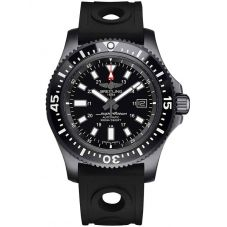 Breitling Mens Superocean Special 44 Black Rubber Strap Watch M1739313/BE92 227S