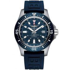Breitling Mens Superocean Special 44 Blue Rubber Strap Watch Y1739316/C959 158S