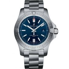 Breitling Mens Chronomat Colt Automatic 44 Mariner Blue Bracelet Watch A17388101C1A1
