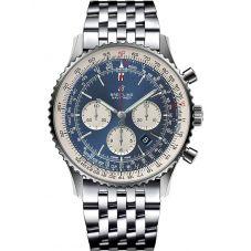 Breitling Mens Navitimer 1 B01 Chronograph 46 Aurora Blue Bracelet Watch AB0127211C1A1