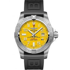 Breitling Mens Avenger II Seawolf Rubber Strap Watch A17331101I1S1