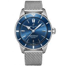Breitling Mens Superocean Heritage II B20 Automatic Blue Bracelet Watch AB2030161C1A1