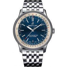 Breitling Mens Navitimer 1 Automatic 38 Blue Bracelet Watch A17325211C1A1