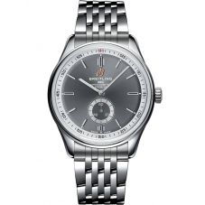 Breitling Mens Premier Automatic 40 Automatic Grey Bracelet Watch A37340351B1A1