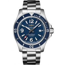 Breitling Mens Superocean Automatic 44 Blue Dial Bracelet Watch A17367D81C1A1