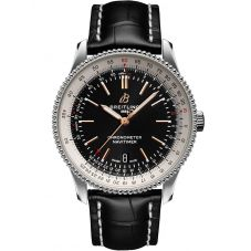 Breitling Mens Navitimer 1 Automatic 41 Black Leather Strap Watch A17326211B1P1