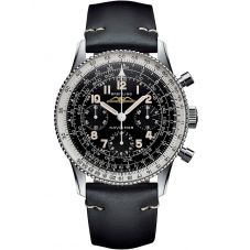 Breitling Mens Navitimer 1 REF.806 1959 Re-Edition Black Leather Strap Watch AB0910371B1X1