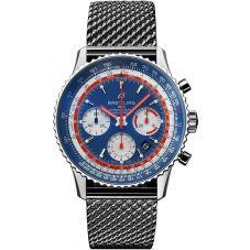 Breitling Mens Navitimer 1 B01 Chronograph 43 Pan Am Blue Bracelet Watch AB01212B1C1A1