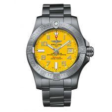Breitling Mens Avenger II Seawolf Cobra Yellow Dial Bracelet Watch A17331101I1A1
